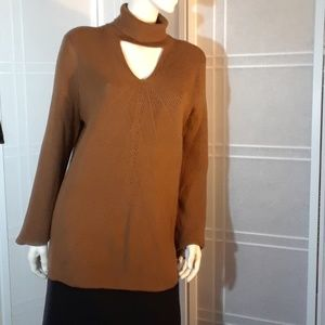 Chico's turtleneck tunic sweater XL